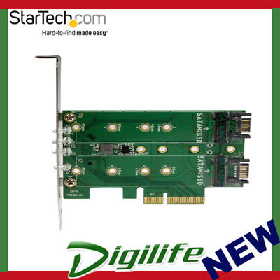 StarTech 3 Port M.2 SSD (NGFF) To PCIe 3.0 Adapter Card PEXM2SAT32N1