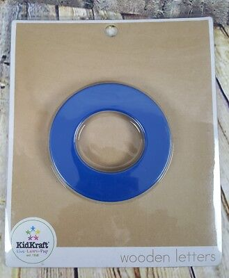 "Kid Kraft Wodden Letter Preppy Solid ""O"" Crafting Sign"