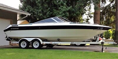 1989 SeaRay 210 Bowrider with tandem EZ Loader Trailer