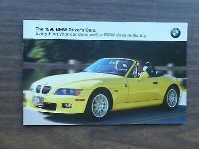 1998 BMW Driver's Cars Full Line Sales Brochure - 3, 5 & 7 SERIES + M3 & Z3