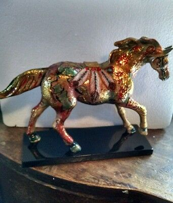 Trail of Painted Ponies GOLDEN FEATHER FIGURINE Retired,  1E/3661