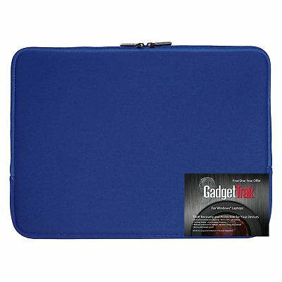 Blue 15 15.6 inch Neoprene Laptop Sleeve Bag Carrying Case Water Resistant NEW