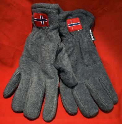 Norwegian Thinsulate Fleece Gloves / 40 gr. Thinsulate™ Insulation - LG / Gray