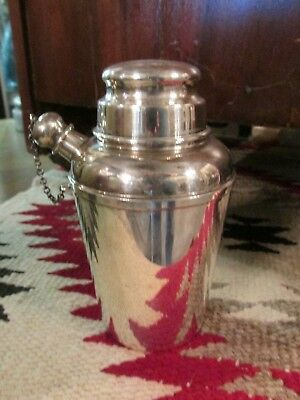 sterling silver cocktail shaker Reed and Barton X110 157g date monogram