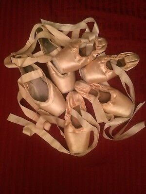 Lot of Three Pink Pointe Shoes: 2 Freeds and 1 Bloch - Arts & Crafts Pointe Shoe