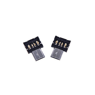 2X Micro USB Male to USB Female OTG Adapter Converter For Android Tablet PhoneLJ