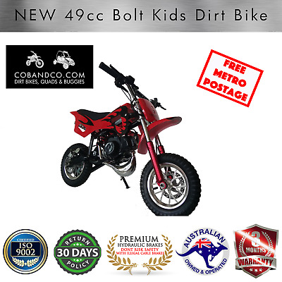 Kids Dirt Bike Mini Pee Wee Pocket Auto Off Road 49cc RED BOLT |Cob & Co