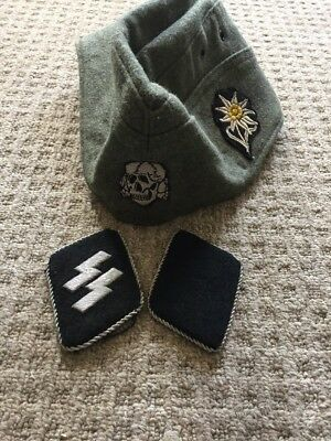 German WW2 Hat & Collar Tabs'
