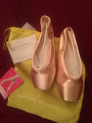 New Gaynor Minden Pink Pointe Shoes - 8M 4-121-33