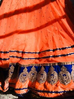 Peach/orange LEHENGA