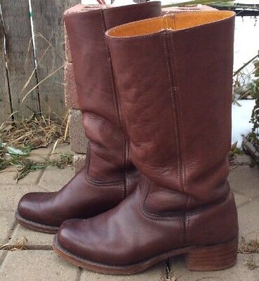 Vintage Frye Men's Size 11 Tall Brown Leather Western Riding Campus Urban Boots