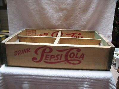 1953 Pepsi Cola Wooden Soda Crate
