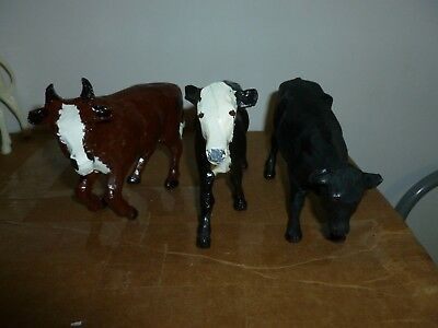 Not Breyer, Traditional sized Cattle, Were Lived Shown
