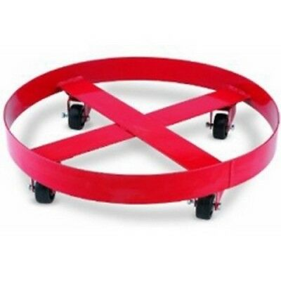 "Band Dolly, 24"" Diameter, for 55 Gallon or 400 lb Containers, with Four Casters"
