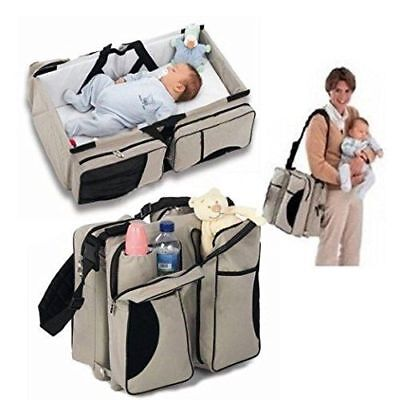 Baby Diaper Travel Bag Changing Station Portable Infant Nursery Crib Fold Beds
