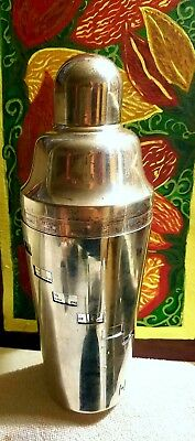 Napier Dial-A-Drink Silver Plated Cocktail Shaker w/ 15 Drink Recipes - Art Deco