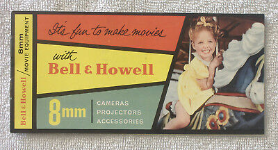 Vintage 1950s {BELL & HOWELL PRICE CATALOG BOOKLET} Cameras Projectors Movie 8mm