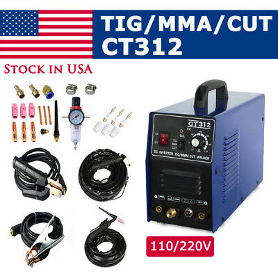 Cut/TIG/MMA Air Plasma Cutter - Tosense CT312 3 in 1 Combo Welding Machine