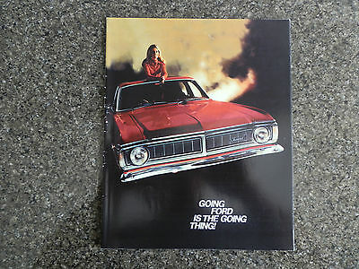 Ford 1970 Xy Range Brochure. Gs,gt Plus Rare Trim And Colour Card 100% Guarantee