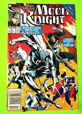 Moon Knight (Marc Spector) #9 Punisher, Marvel 1989, Nm 9.4, Uncertified