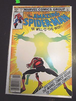 Amazing Spider-Man #234 vs Will-O'-the-Wisp Newsstand Edition VF