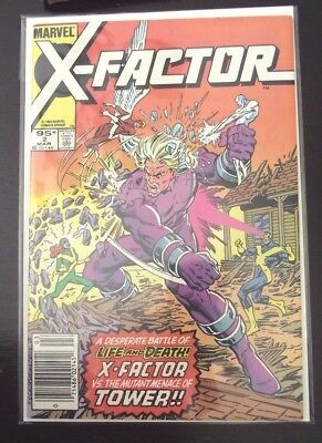 X-Factor #2 X-Factor vs Tower Canadian Newsstand edition HTF 1985 FN