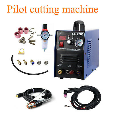 Pilot Arc Plasma Cutter 50Amp Dual Voltage 110V/220V Digital Inverter Portable