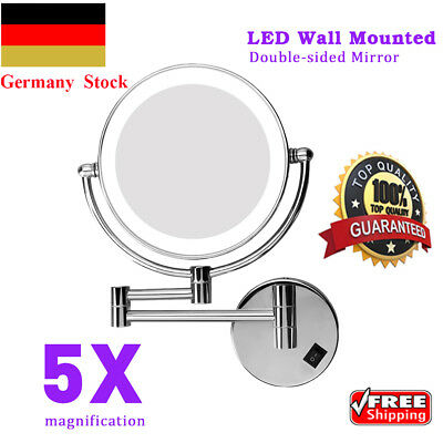 8 5 led beleuchtet wand schminkspiegel kosmetikspiegel 10 fach vergr erung de eur 50 98. Black Bedroom Furniture Sets. Home Design Ideas