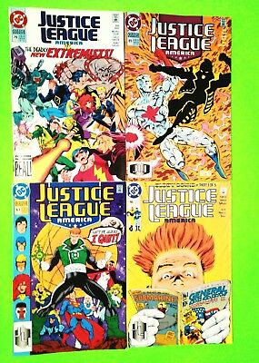 Justice League America Lot 4 Issues #46,63,79,81, Dc 1991, Nm-9.2, Uncertified
