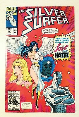 Silver Surfer #66 Love And Hate, Marvel 1992, Nm 9.4, Uncertified