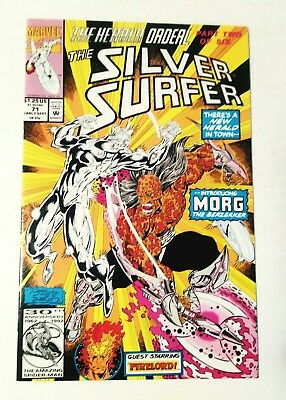 Silver Surfer #71 Morg, Firelord, Marvel 1992, Nm 9.4, Uncertified