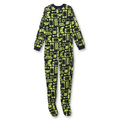 New Teen Boys' Footed Blanket Sleeper Pajamas Video Games M 7/8 L 10/12 XL 14/16