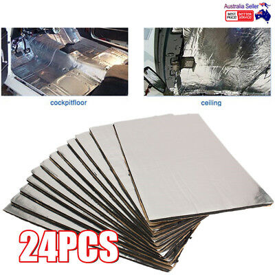 24XSelf Adhesive Car Sound Proofing Deadening Insulation Closed Cell Foam 10MM