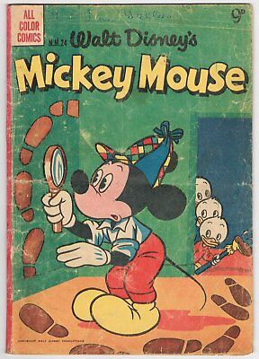 Australian Walt Disney's Mickey Mouse Comic M.m.24 - Acceptable - 1955