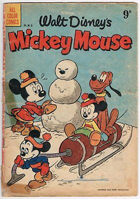 Australian Walt Disney's Mickey Mouse Comic M.m.6 - Acceptable - 1954