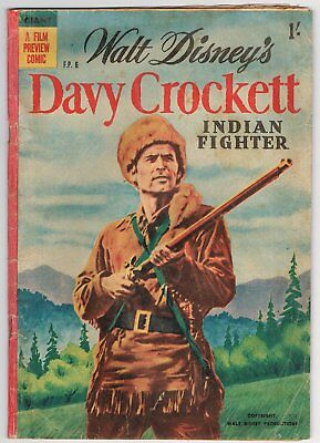 Australian Walt Disney's Davy Crockett Comic F.p.6 - Good - 1955