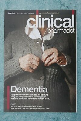 Clinical Pharmacist Magazine, March 2014, Vol.6,No.2, Dementia, Lithium clinic