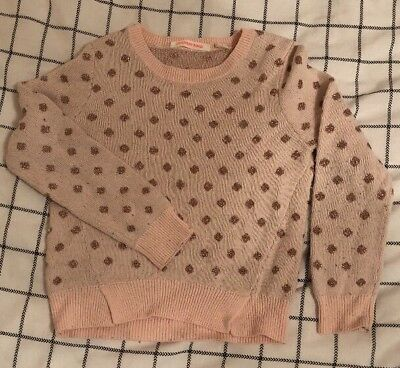 GUC Country Road Girls Jumper. Pink And Gold. Size 5 Fair Used Condition. Warm.