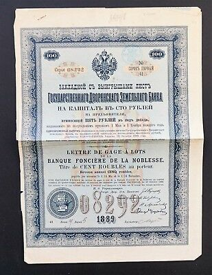 Russia - Imperial Land Mortgage Bank of the Nobility - 5% bond 1889