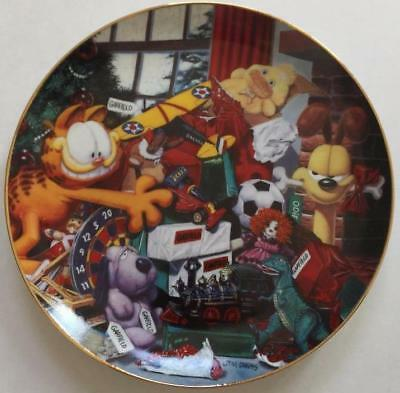 Garfield All I Want for Christmas Danbury Mint Collector Plate Jim Davis
