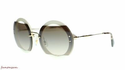 7e7fcba8338d MIU MIU WOMEN SUNGLASSES MU06SS VAG4P0 Ivory Brown Gradient Mirror Silver  63mm