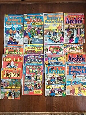 LOT OF 16 ARCHIE COMIC BOOKS BETTY VERONICA PALS PEP LIFE 1980s 50 to 65 cents