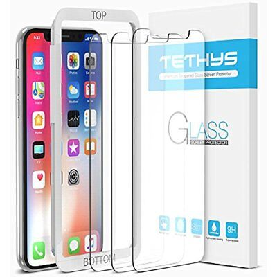 3 Pack Tempered Glass Screen Protector With Guide Frame For Apple Iphone X 10