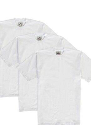 3 Pack Proclub Heavy Weight T-Shirt White Plain Pro Club Blank S-3Xlt 3Pc