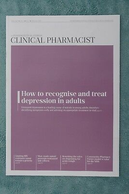 Clinical Pharmacist Magazine, Vol.9, No.4, April 2017, treating adult depression