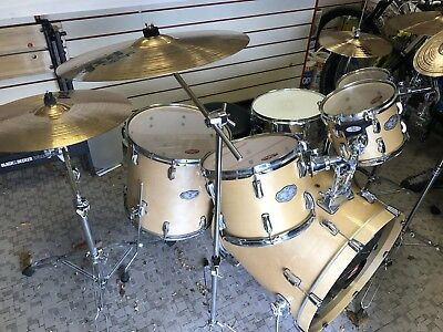 pearl vision sst birch 6 piece all birch drum kit includes paiste cymbals picclick uk. Black Bedroom Furniture Sets. Home Design Ideas