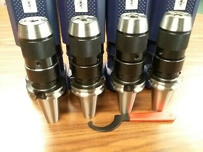 "4 CAT40 Ball Bearing Keyless Drill Chucks 1/2"" Integral design #DCK-CAT40-12"