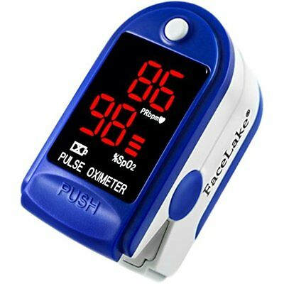 Pediatric Pulse Finger Oximeter Baby Children Digital Display W/ Case Blue GIFT