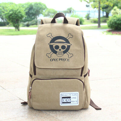 One Piece Anime Canvas Backpack Sports Shoulders School Casual Books Bag Unisex
