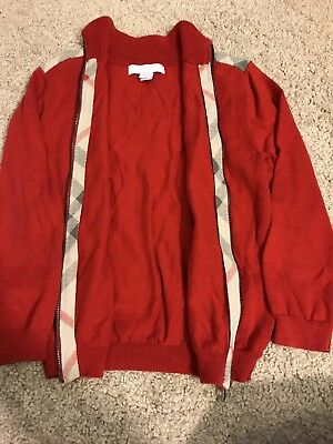 Burberry Childrens Zip Up Sweater Sz 5Y